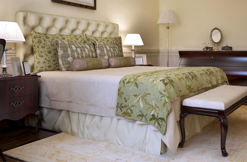 ベッドスカートで雰囲気が変わります
