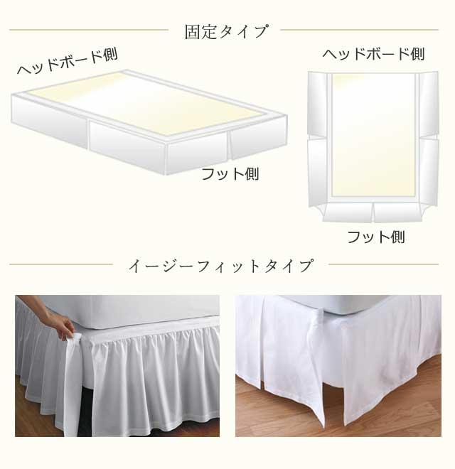 ベッドスカートの設置方法