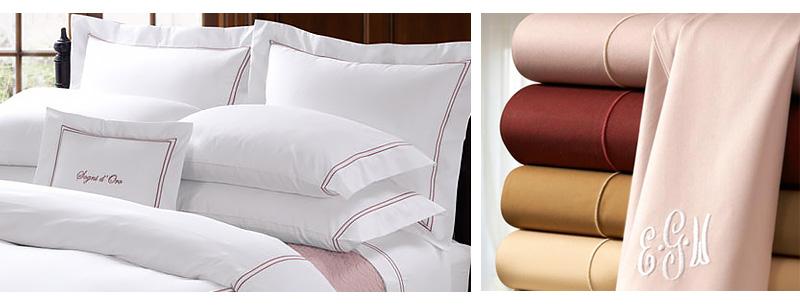 オリジナル刺繍できる商品、タオル、フラットシーツ、掛け布団カバー、枕カバー、クッションカバー、毛布