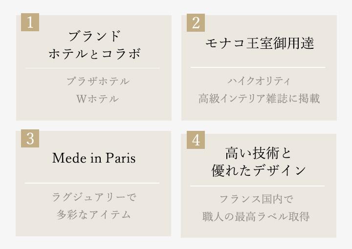 世界的ブランドやホテルとコラボ モナコ王室御用達 Maid in Parisの多彩なアイテム 職人の高い技術と優れたデザイン