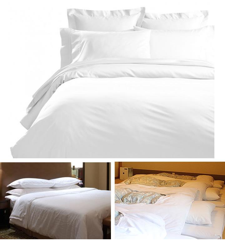 旅館 ホテル に 人気の 白色の寝具 リネン