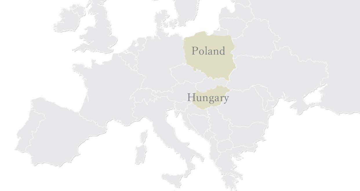 厳しい寒冷地 ハンガリー ポーランド